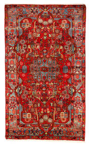 Nahavand Old Tæppe 157X260 Ægte Orientalsk Håndknyttet Mørkerød/Rust (Uld, Persien/Iran)
