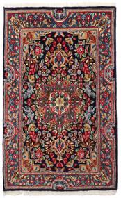 Kerman Tæppe 90X149 Ægte Orientalsk Håndknyttet Mørkegrå/Mørkeblå (Uld, Persien/Iran)