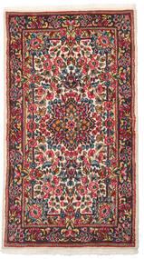 Kerman Tæppe 88X160 Ægte Orientalsk Håndknyttet Mørkegrå/Mørkerød (Uld, Persien/Iran)