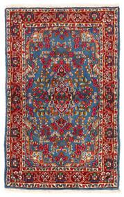 Kerman Tæppe 92X149 Ægte Orientalsk Håndknyttet Mørkerød/Blå (Uld, Persien/Iran)