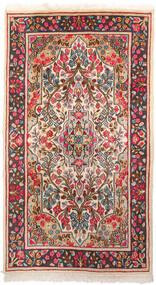 Kerman Tæppe 87X155 Ægte Orientalsk Håndknyttet Mørkegrå/Beige (Uld, Persien/Iran)