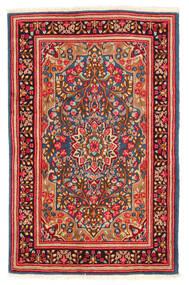 Kerman Tæppe 117X184 Ægte Orientalsk Håndknyttet Rust/Hvid/Creme (Uld, Persien/Iran)