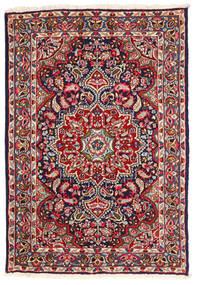 Kerman Tæppe 123X180 Ægte Orientalsk Håndknyttet Mørkelilla/Rust (Uld, Persien/Iran)