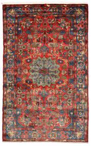 Nahavand Old Tæppe 156X248 Ægte Orientalsk Håndknyttet Sort/Mørkerød (Uld, Persien/Iran)