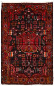 Nahavand Tæppe 165X260 Ægte Orientalsk Håndknyttet Mørkebrun/Mørkerød/Rust (Uld, Persien/Iran)
