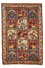 Bakhtiar Collectible Tæppe 115X170 Ægte Orientalsk Håndknyttet Mørkebrun/Hvid/Creme (Uld, Persien/Iran)