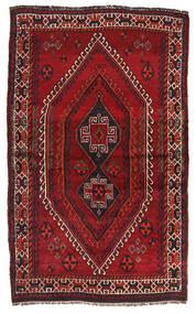 Shiraz Tæppe 130X210 Ægte Orientalsk Håndknyttet Mørkerød (Uld, Persien/Iran)