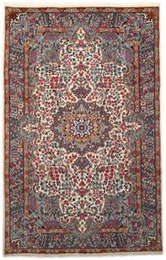 Kerman Tæppe 193X306 Ægte Orientalsk Håndknyttet Sort/Lysegrå (Uld, Persien/Iran)
