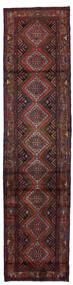 Hosseinabad Tæppe 77X318 Ægte Orientalsk Håndknyttet Tæppeløber Mørkerød/Sort (Uld, Persien/Iran)