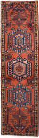 Wiss Tæppe 62X219 Ægte Orientalsk Håndknyttet Tæppeløber Mørkerød/Sort (Uld, Persien/Iran)