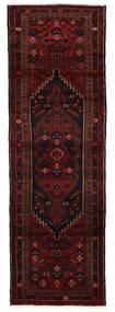 Hamadan Tæppe 96X293 Ægte Orientalsk Håndknyttet Tæppeløber Mørkerød (Uld, Persien/Iran)