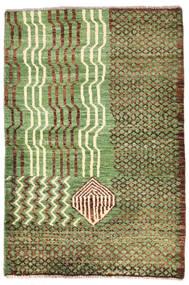 Moroccan Berber - Afghanistan Tæppe 79X118 Ægte Moderne Håndknyttet Lysgrøn/Brun (Uld, Afghanistan)