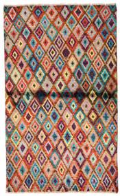 Moroccan Berber - Afghanistan Tæppe 85X142 Ægte Moderne Håndknyttet Mørkebrun/Rust (Uld, Afghanistan)