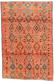 Moroccan Berber - Afghanistan Tæppe 121X182 Ægte Moderne Håndknyttet Orange/Rød/Lysebrun (Uld, Afghanistan)