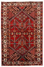 Rudbar Tæppe 130X200 Ægte Orientalsk Håndknyttet Mørkerød/Rust (Uld, Persien/Iran)