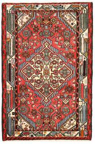 Hamadan Tæppe 82X125 Ægte Orientalsk Håndknyttet Sort/Mørkebrun (Uld, Persien/Iran)