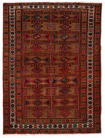Hamadan Tæppe 80X108 Ægte Orientalsk Håndknyttet Mørkebrun/Mørkerød (Uld, Persien/Iran)