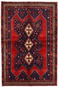 Afshar/Sirjan Tæppe 138X210 Ægte Orientalsk Håndknyttet Mørkerød/Mørkelilla (Uld, Persien/Iran)