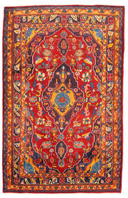 Golpayegan Tæppe 107X168 Ægte Orientalsk Håndknyttet Rust/Mørkerød (Uld, Persien/Iran)