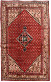 Sarough Mir Tæppe 128X210 Ægte Orientalsk Håndknyttet Mørkerød/Rust (Uld, Persien/Iran)