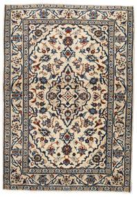 Keshan Tæppe 103X146 Ægte Orientalsk Håndknyttet Beige/Sort/Lysegrå (Uld, Persien/Iran)