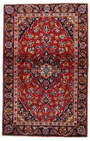 Keshan Tæppe 105X147 Ægte Orientalsk Håndknyttet Mørkerød/Mørkelilla (Uld, Persien/Iran)