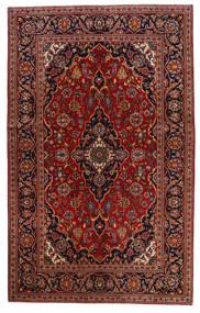 Keshan Tæppe 130X209 Ægte Orientalsk Håndknyttet Mørkerød/Mørkebrun (Uld, Persien/Iran)