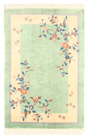 Kina Antikfinish Tæppe 120X180 Ægte Orientalsk Håndknyttet Pastel Grøn/Gul (Uld, Kina)