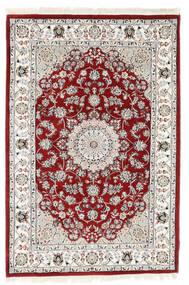 Nain Indisk Tæppe 125X185 Ægte Orientalsk Håndknyttet Lysegrå/Hvid/Creme ( Indien)