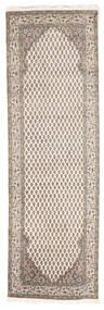 Mir Indisk Tæppe 80X250 Ægte Orientalsk Håndknyttet Tæppeløber Lysegrå/Beige (Uld, Indien)