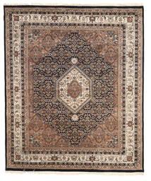 Nain Indisk Tæppe 196X233 Ægte Orientalsk Håndknyttet Lysegrå/Mørkebrun ( Indien)