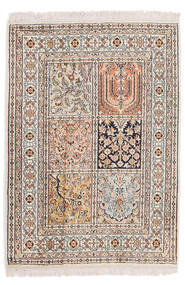 Kashmir Pure Silke Tæppe 64X90 Ægte Orientalsk Håndknyttet Lysegrå/Beige (Silke, Indien)