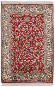 Kashmir Pure Silke Tæppe 63X92 Ægte Orientalsk Håndknyttet Lysegrå/Mørkebrun (Silke, Indien)