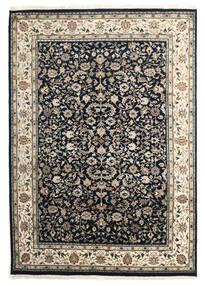Nain Indisk Tæppe 172X244 Ægte Orientalsk Håndknyttet Mørkegrå/Lysegrå ( Indien)