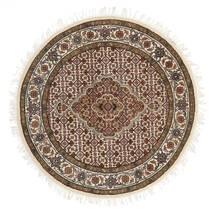 Tabriz Royal Tæppe Ø 101 Ægte Orientalsk Håndknyttet Rundt Brun/Beige ( Indien)