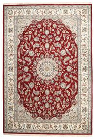 Nain Indisk Tæppe 244X354 Ægte Orientalsk Håndknyttet Lysegrå/Mørkerød ( Indien)