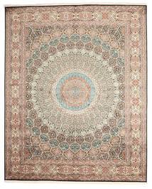 Kashmir Pure Silke Tæppe 248X307 Ægte Orientalsk Håndknyttet Lysegrå/Mørkegrå (Silke, Indien)