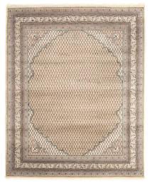 Mir Indisk Tæppe 201X250 Ægte Orientalsk Håndknyttet Lysegrå/Beige (Uld, Indien)