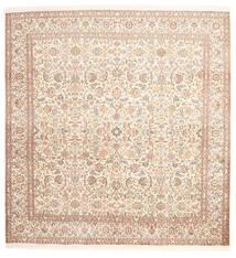 Kashmir Pure Silke Tæppe 212X218 Ægte Orientalsk Håndknyttet Kvadratisk Beige/Lyserød (Silke, Indien)