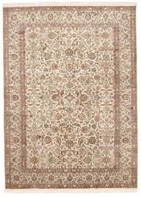 Kashmir Pure Silke Tæppe 157X213 Ægte Orientalsk Håndknyttet Brun/Lyserød (Silke, Indien)