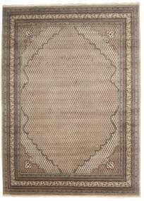 Mir Indisk Tæppe 253X349 Ægte Orientalsk Håndknyttet Lysegrå/Brun Stort (Uld, Indien)