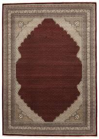 Mir Indisk Tæppe 253X355 Ægte Orientalsk Håndknyttet Mørkebrun/Mørkerød Stort (Uld, Indien)