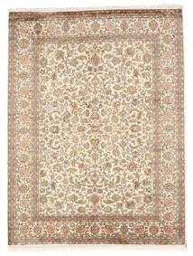 Kashmir Pure Silke Tæppe 162X216 Ægte Orientalsk Håndknyttet Beige/Brun (Silke, Indien)