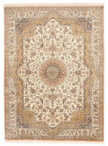 Kashmir Pure Silke Tæppe 157X211 Ægte Orientalsk Håndknyttet Brun/Beige (Silke, Indien)