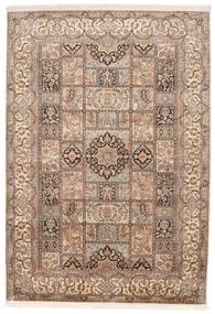 Kashmir Pure Silke Tæppe 174X248 Ægte Orientalsk Håndknyttet Brun/Mørkebrun (Silke, Indien)