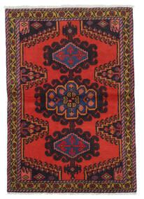 Wiss Tæppe 106X153 Ægte Orientalsk Håndknyttet Mørkerød/Mørkebrun/Rust (Uld, Persien/Iran)