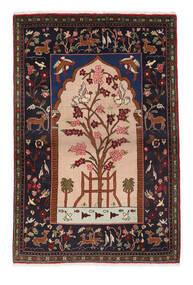 Sarough Tæppe 107X158 Ægte Orientalsk Håndknyttet Mørkebrun/Lysebrun (Uld, Persien/Iran)