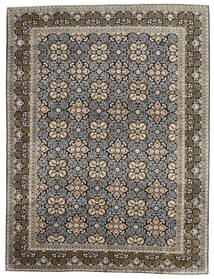 Keshan Tæppe 289X381 Ægte Orientalsk Håndknyttet Lysegrå/Mørkegrå Stort (Uld, Persien/Iran)
