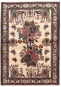 Afshar/Sirjan Tæppe 102X144 Ægte Orientalsk Håndknyttet Beige/Sort (Uld, Persien/Iran)