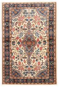 Sarough Tæppe 100X149 Ægte Orientalsk Håndknyttet Mørkebrun/Mørk Beige (Uld, Persien/Iran)